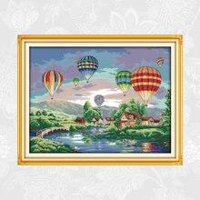 Красочные воздушные шары узоры печатные крестиком набор продажа