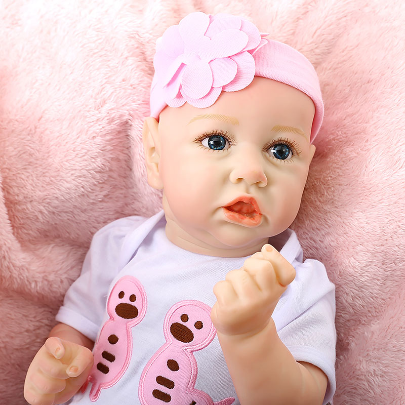 High Quality 60CM Rebirth Doll Realistic Reborn Baby Cute Pouting Baby Doll For Newborn Silicone Doll Lifelike As Christmas Gift