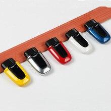 ABS jeden przycisk Start pasywny Keyless wprowadź obudowa kluczyka do samochodu Case dla porsche macan Cayenne Panamera stylizacja akcesoria zamienne