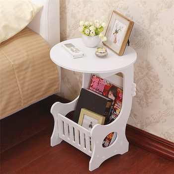 Creative Mini Plastic Round Coffee Table Tea Table Home Living Room Storage Rack Bedside Table Tea Fruit Service Plate Tray