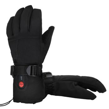 SAVIOR Electric Heated  Gloves 7.4V Lithium Battery Heating Winter Outdoor Sports Warm Riding Ski Gloves 3000mah rechargeable battery pu leather windproof winter warm ski outdoor work motorcycle cycling electric heated hands gloves