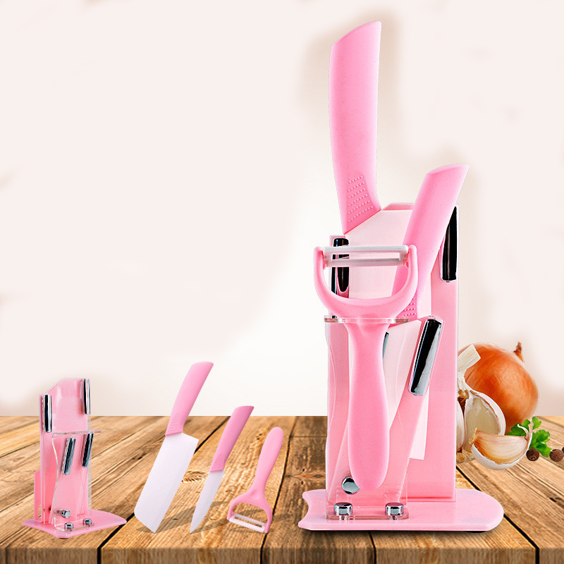 3 piece set with base gift kitchen knife fruit planing zirconia knife ceramic knife set melon  ceramic knife|Kitchen Knives|   - title=