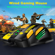4800DIP USB Mouse Gaming Kabel Optik untuk Notebook Desktop PC Mouse Drive Tekanan Bebas Gun Kabel Mouse Gamer Ergonomi tikus(China)