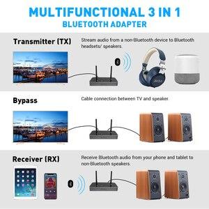 Image 3 - Eksa ET04 3 In 1 Bluetooth 5.0 Audio Zender Ontvanger CSR8675 Bluetooth Adapter Optische/3.5 Mm Aux/Spdif voor Tv Hoofdtelefoon