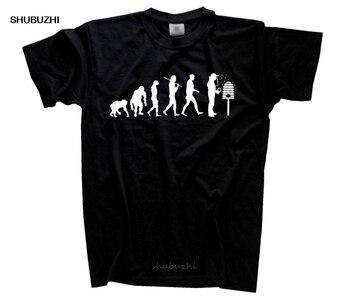 Camiseta para hombre, manga del Cabo, estampado juvenil, Imker Evolution Bienenzuchter Honig, camisetas de moda para hombres, camisa grande