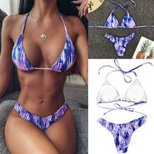 Frauen Push-up Gepolsterter Bh Bandage Bikini Set Badeanzug Strand Dreieck Bademode Badeanzug