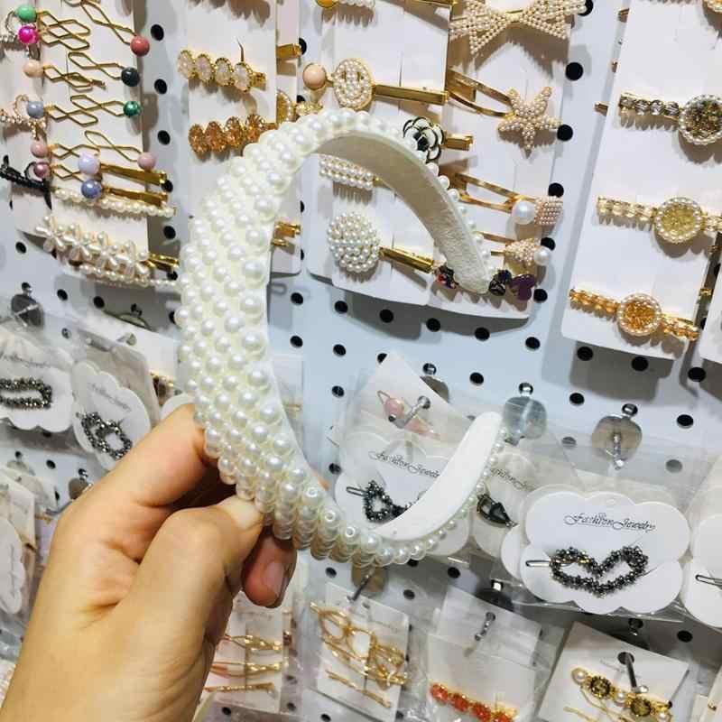 Модные головные уборы с жемчугом корейский стиль ободок Девушки Женщины Аксессуары для волос подарок область применения вечерние принадлежности путешествия