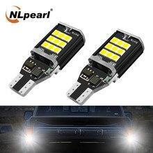 цена на NLpearl 2x Signal Lamp 12V T15 Led Bulb Super Bright 6000K 24SMD 3030 Chips Canbus T15 W16W 921 LED Car Backup Reverse Lights
