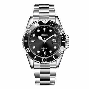 Watch Men Quartz Clock Fashion Sports Waterproof Stainless Steel Business Watches Relogio Masculino часы Luxury Brand Wristwatch 2