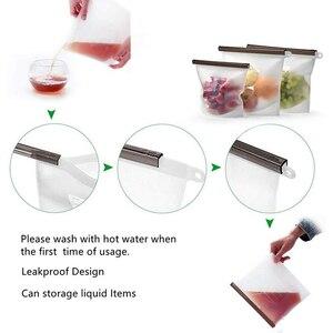 Image 4 - 3 حجم قابلة لإعادة الاستخدام كيس تخزين طعام من السيليكون أكياس محكم ختم الغذاء الحفاظ على الحاويات حقيبة حفظ الطازجة للفواكه النباتية