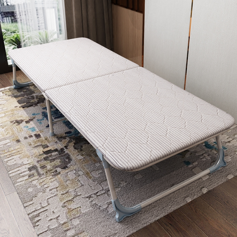 Folding Bed Office Lunch Break Bed Chair Single Simple Nap Bed Portable Camp Bed Home Escort Bed Hard Board Bed