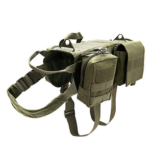 Image 4 - Fashion Tactical Dog Training Molle Vest Harness Pet Vest with Detachable Pouches Military K9 Harness For Medium Large Dogs JY