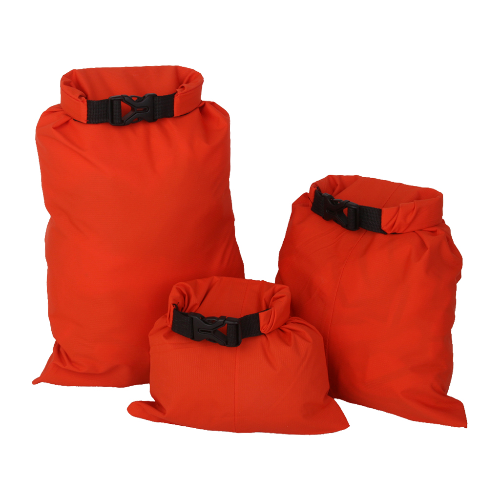 3Pcs 1.5L/2.5L/3.5L Waterproof Dry Storage Bag Pouch Canoeing Rafting Camping Orange Canoeing Rafting Water Sport Dry Bag Pouch
