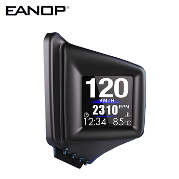 EANOP HUD Head up display OBD2/GPS Car  Speedometer KMH MPH 360 Degree Turning Screen  Fixed on A Pillar Left or Right