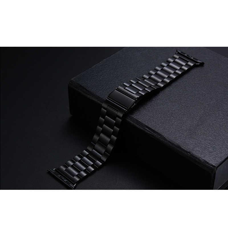 Correa de acero inoxidable para apple watch banda 42mm 38mm apple atch 4 5 44mm 40mm iwatch series 5/4/3/2/1 pulsera correa de reloj