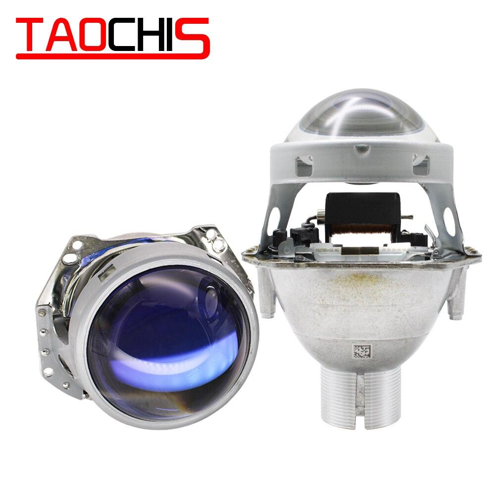 TAOCHIS 2pcs Auto Car Headlight 3.0 Inch Bi-xenon Hella 5 3R H4 Non-destructive Installation Projector Lens Retrofit D2S D2H