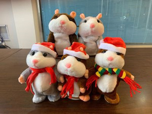 Image 4 - Promotion 15cm Talking Hamster Speak Talk Sound Record Repeat Stuffed Plush Animal Kawaii Hamster Toy For Children Kid Xmas Gift
