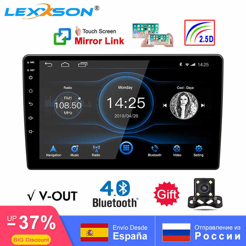 Universele 10 Inch/9 Inch 2din Android 8.1 Auto Radio 1080P Touch Gps Navigatie Bluetooth Wifi Swc Dab fm Am Spiegel Link Obd 2