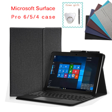 Case for Microsoft Surface Pro 6 Multi Angle Business Stand Cover for Surface Pro 7 / Surface Pro 4 Pro 5 12.3 Inch Tablets