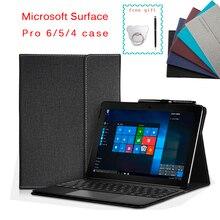 Ốp Lưng Cho Microsoft Surface Pro 6 Đa Góc Kinh Doanh Đứng Bao Da Cho Surface Pro 7 / Surface Pro 4 pro 5 Máy Tính Bảng 12.3 Inch