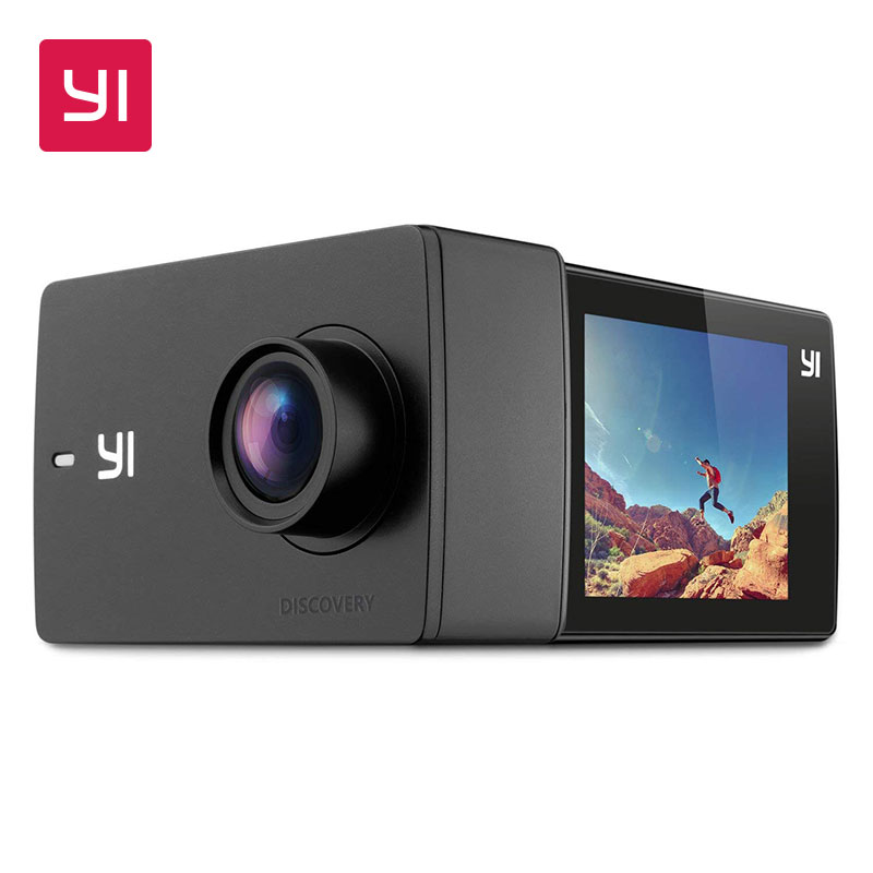 YI Descoberta Esportes Action Camera 20fps 4K 8MP 16MP com 2.0 Touchscreen Embutido Wi-Fi Cam 150 Graus Ultra Wide ângulo