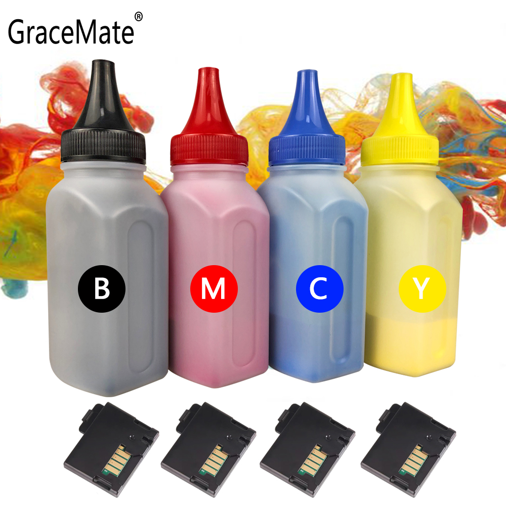 GraceMate 4 Color Bottled Toner Powder Cartridge Chip Compatible For Xerox Phaser 6020 6022 Workcentre 6025 6027 Printer Refill