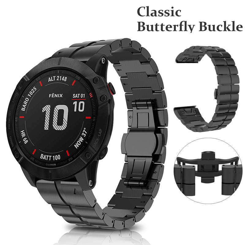 Titanium Alloy Watchband For Garmin Fenix 6X/6X Pro Band 26mm Width Watch Bracelet For Garmin Fenix 5X/5X Plus Replacement Wrist