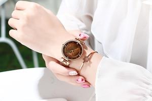 Image 5 - Relogiio Feminino CURREN ผู้หญิงนาฬิกาแบรนด์หรูสุภาพสตรีความคิดสร้างสรรค์นาฬิกาควอตซ์ชุดเหล็กตาข่ายนาฬิกานาฬิกาใหม่