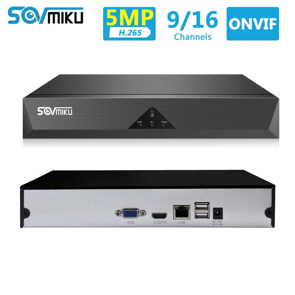 9CH 16CH Max 5MP Output CCTV NVR 5MP/4MP/3MP/2MP H.265 NVR Network Video Recorder ONVIF P2P For IP Camera Security System