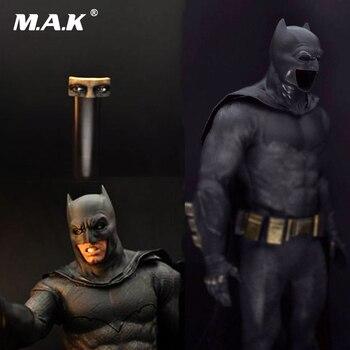 1/6 Scale Male Cosplay Clthoes Batman Wearable Helmet & Cloak & Eye Shape for Man Head Model 12