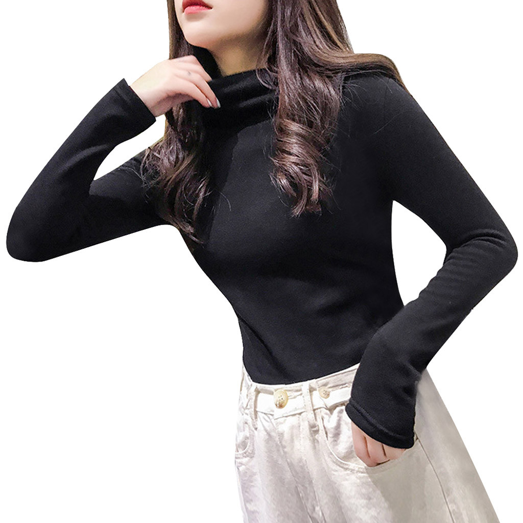 New casual thick Autumn Winter turtleneck oversize Sweater Pullover Women warm chic female loose Knitted Basic Sweaters pull23