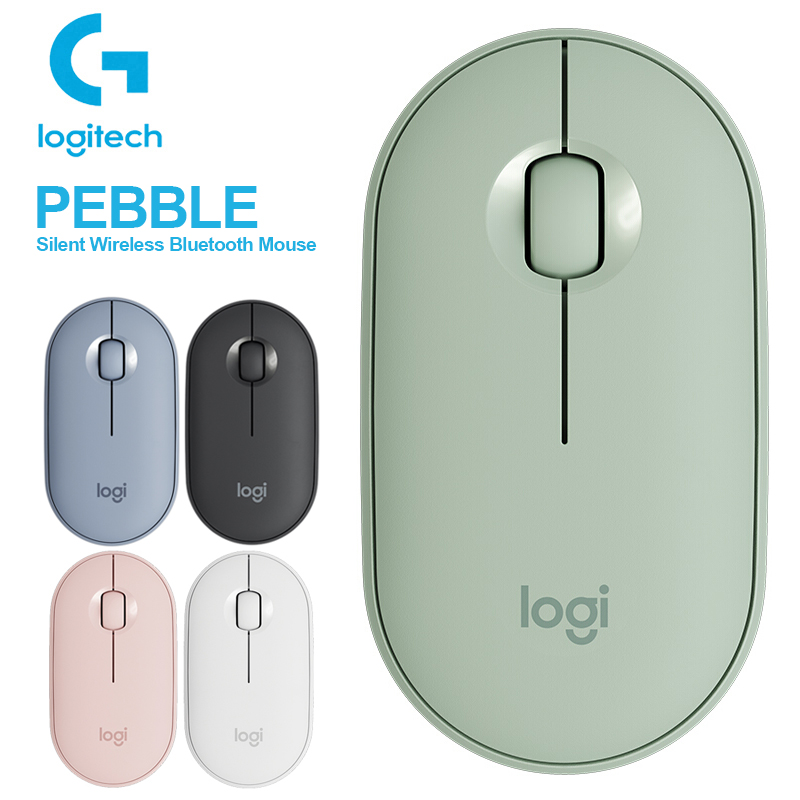 Logitech PEBBLE Silent Wireless Mouse Thin&Light Portable Modern Mouse With 1000DPI For Windows 10 8 7 MacOS Multi-Color Mice