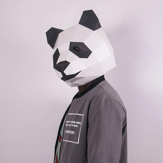 מסכת ראש אוריגמי - פנדה 2