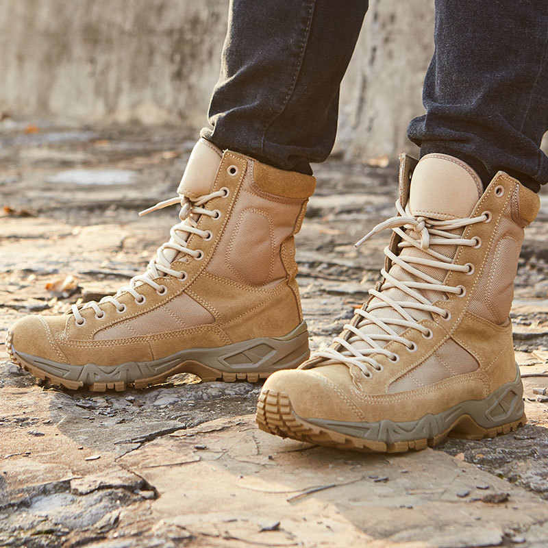 Men Desert Leather SWAT Army Combat Military Hiking Walking Tactical Boots Sizes