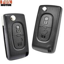 Car Key Remote Flip Key Shell Case 2 Buttons CE0523 CE0536 For Peugeot 308 207 307 3008 5008 807 For Citroen C2 C3 C4 C5 C6 C8