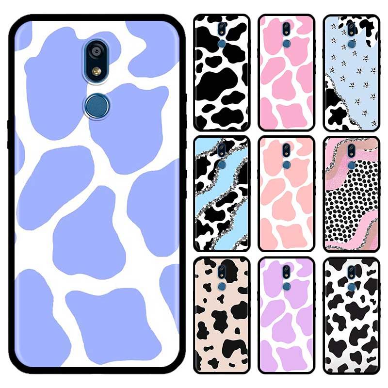 Cow Milk Black White Case For LG G6 G7 G8 Thinq K40 K40s Q51 Q60 Q61 Q70 K41s K50s K51s K61 Tpu Phone Carcasa Capas
