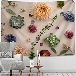 3D Print Mandala Flower Plant Tapestry Wall Hanging Hippie Bohemian Tapestry Psychedelic Home Dormitory Decoration Wall Hanging