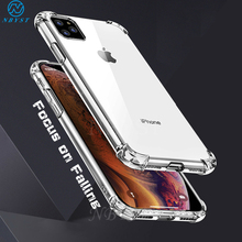 Bumper Soft Phone Case For iPhone 11Pro Max Clear TPU Phone Case for iPhone SE 2020 XS MAX XR 5S 5C 6S 7 8Plus Shockproof Cover simple classic bumper frame case for iphone 5c yellow transparent
