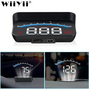 Image 1 - WiiYii HUD M6S 자동차 헤드 업 디스플레이 자동차 전자 제품 KM/h MPH OBD2 과속 보안 알람 앞 유리 프로젝터 디스플레이 자동차