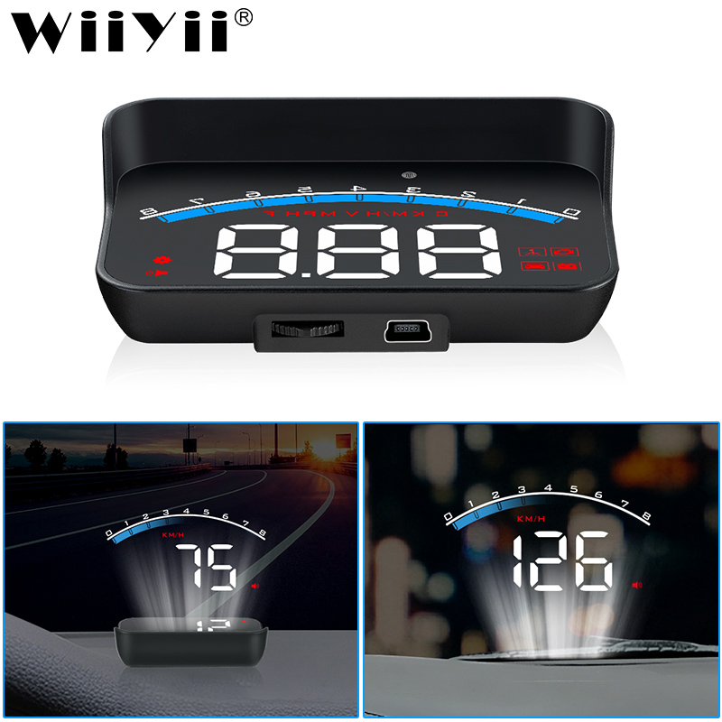 WiiYii hud M6S Car Head up display Auto Electronics KM/h MPH OBD2 Hud Security Alarm windshield Projector display car(China)