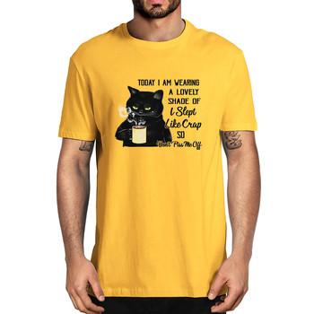 Dziś mam na sobie piękny odcień #8222 spałem jak crap #8221 więc nie wkurzaj mnie śmieszne letnie męskie 100 bawełniane T-Shirt koszulka Unisex tanie i dobre opinie Daily SHORT CN (pochodzenie) COTTON Na wiosnę i lato Na co dzień Z okrągłym kołnierzykiem tops Z KRÓTKIM RĘKAWEM