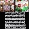 Кухонные инструменты с русскими буквами, 6 шт./компл., Большая Пластиковая форма с буквами алфавита и цифрами, инструменты для украшения торт...