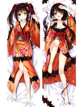 Japan Anime Date A Live Tokisaki Kurumi Dakimakura Pillow Case 150cm Cosplay Hugging Body DIY Custom Pillow Cover 10