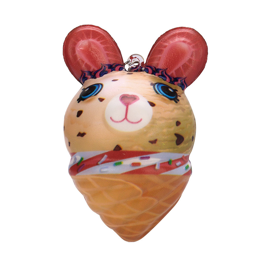 Cartoon Ice Cream Rabbit Pendant Charm Slow Rising Collection Stress Reliever Toys Trinket Pendants Creative Gift #A