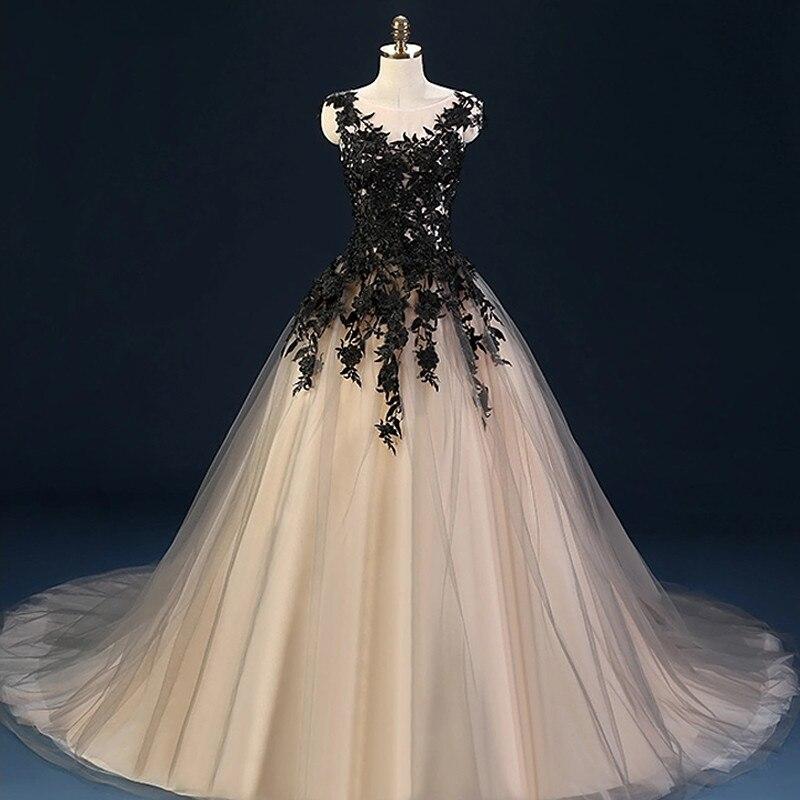 Black Wedding Dresses Ball Gown Tulle Lace Wedding Gowns Wedding Bridal Bride Dresses Weddingdress Vestido De Noiva