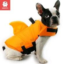 Kimpets 2021 Dog Life Vest Summer Shark Pet Life Jacket Dog Clothes Dogs Swimwear Pets Swimming Suit Professional Dog Lifesaver
