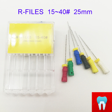 6pcs 15~40# 25mm Dental Protaper Files Root Canal Dentist Materials Dentistry Instruments Hand Use Stainless Steel R