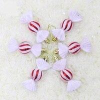 Adornos navideños de 10cm,15cm, bola electrochapada de dulces de Navidad, árbol de Navidad, guirnalda colgante, decoración del hogar, regalos de navidad