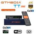 GTMEDIA TT PRO DVB-T2/кабельный цифровой приемник  спутниковый ТВ-тюнер  Wifi  бесплатный цифровой рецептор  HD 1080 P  CCCAM  Португалия  Россия  ТВ-приставка