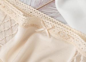 Image 4 - 3 حزمة المرأة 100% الحرير الدانتيل رقيقة مثير سراويل ملخصات الملابس الداخلية الملابس الداخلية Ml XL TG005